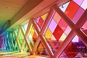 شیشه دکوراتیو رنگی
