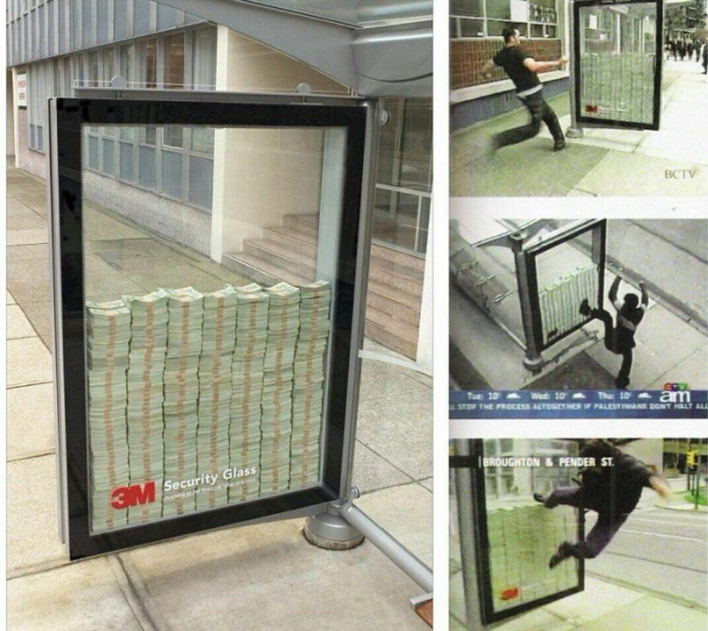 تبلیغ شیشه نشکن